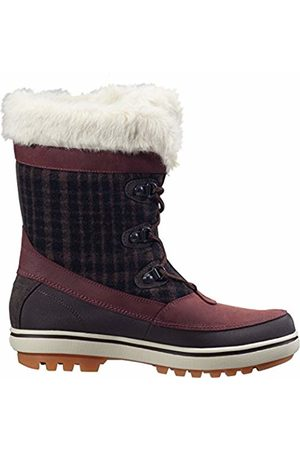Helly Hansen Women's Georgina Winter Boot with Faux-Fur and Grip, Clay/Coffee Bean/Soccer Gum
