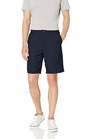 "Amazon Classic-Fit Flat-Front Linen Short - 9"" Casual"