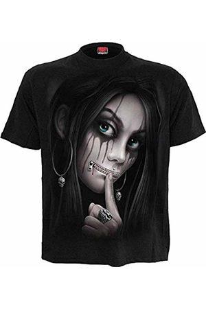 Spiral Direct Women's Zipped - Front Print T-Shirt 001