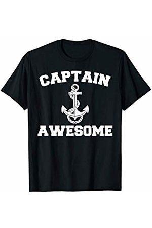 Miftees Captain Awesome funny Ship Anchor Fisherman Boating T-Shirt