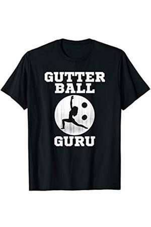 Shocking Styles Bowling Apparel Funny Bowling Gift: Gutter Ball Guru Yoga Meditation Meme T-Shirt