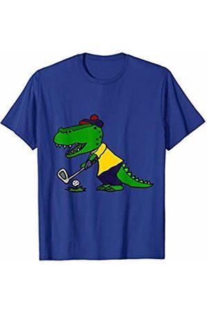 Smiletodaytees Men T-shirts - Cool Alligator Playing Golf T-shirt