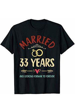 Medotukito 33rd Wedding Anniversary Married Looking Forward To Forever T-Shirt