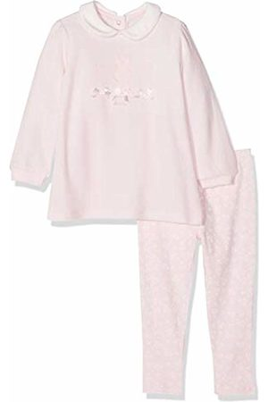 chicco Baby Rompers - Baby Girls' Completo Abito Maniche Lunghe Con Leggings Footies
