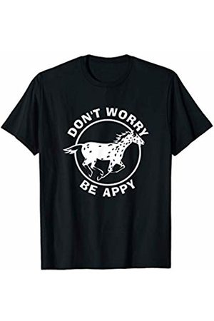 NickerStickers Don't Worry Be Appy | Leopard Appaloosa Horse T-Shirt