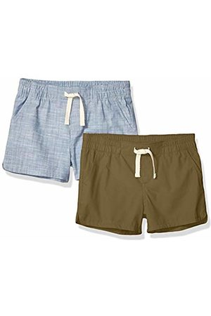 Amazon 2-Pack Pull-On Woven Shorts Olive/Chambray