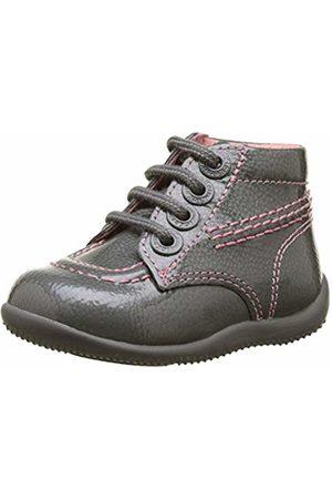 Kickers Baby Girls' Billista Boots, Vernis Lacet Gris 122