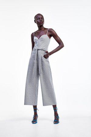 Zara Women Jumpsuits & Playsuits - Jumpsuit with belt