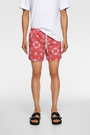 Zara Bandana print swimming trunks