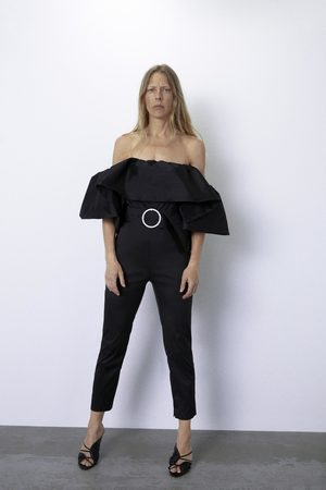Zara Ruffled jumpsuit with belt