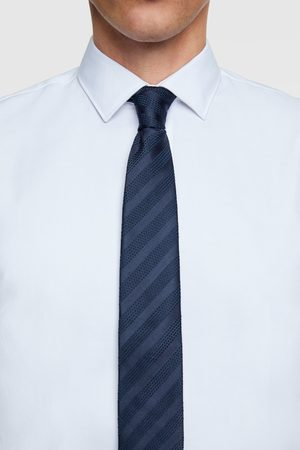 Zara Men Ties - Wide striped tie