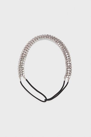 Zara Elastic headband with rhinestones