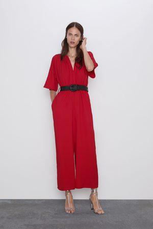 Zara Jumpsuit with contrast belt