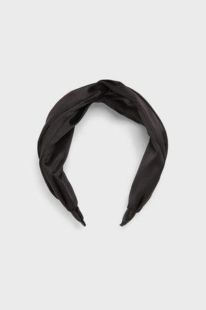 Zara Satin headband with knot