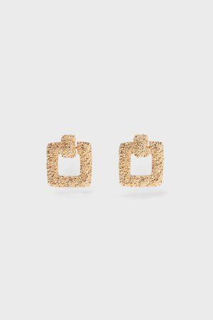 Zara Textured square earrings