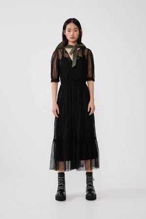 b806fad5 Dotted mesh dress