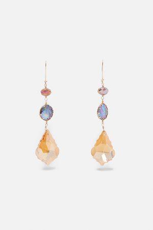 Zara Iridescent pearl earrings