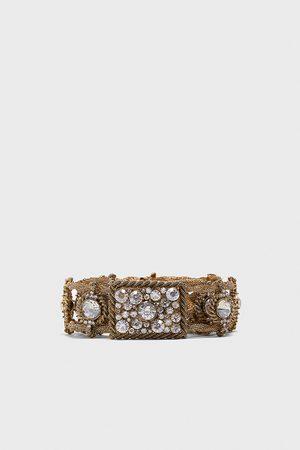 Zara Bejewelled metal belt