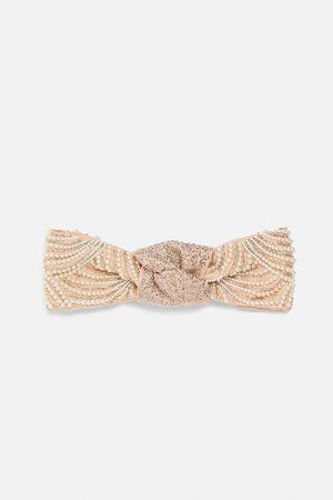 Zara Headband with rhinestones and pearl beads