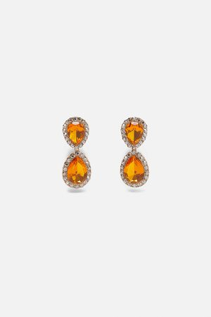 Zara Gemstone teardrop earrings