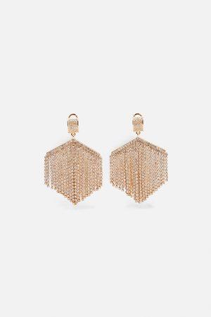 Zara Bejewelled earrings
