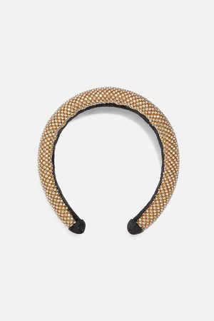 Zara Padded headband with rhinestones