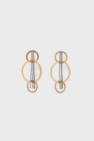 Zara Chain hoop earrings