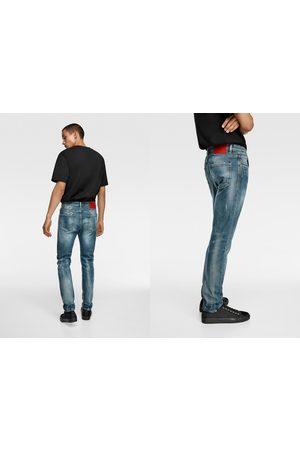 Zara Skinny jeans with paint splatter