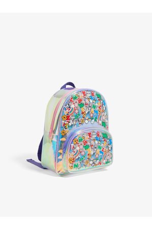 Zara Iridescent multi-sticker backpack