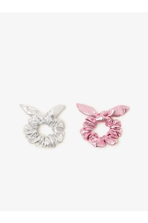 Zara 2-pack of metallic hair ties with bow