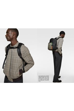 Zara Contrast check backpack