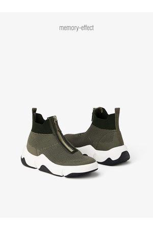 Zara Zipped high-top sneakers