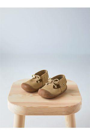 Zara Fringed leather boots