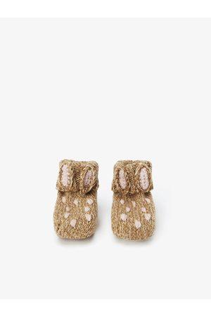 Zara Chunky knit bunny boots
