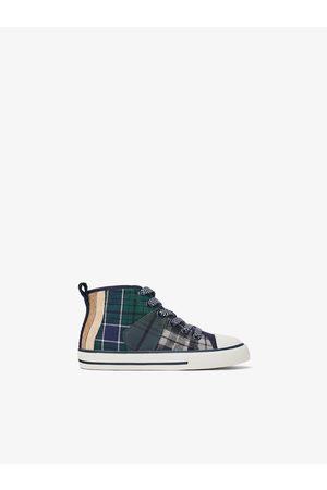 Zara Check high-top sneakers