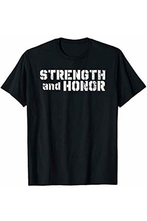 Elite Workout Fitness Collections Cool Strength And Honor Fitness Design For Competitors T-Shirt