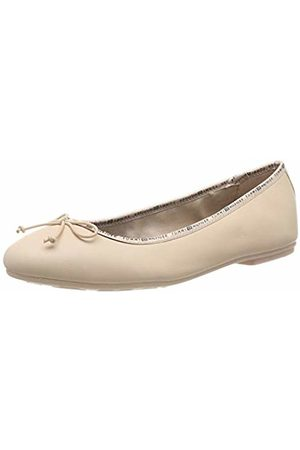 Tommy Hilfiger Women's Leather Ballerina Tommy Branding Ballet Flats