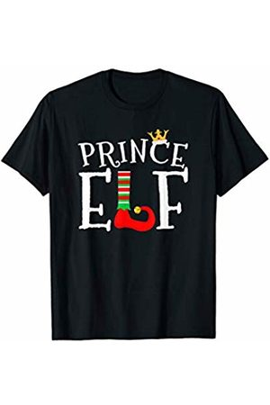 Funny Christmas Elf Matching Family Group Tees Men T-shirts - Prince Elf Matching Family Group Christmas T-Shirt