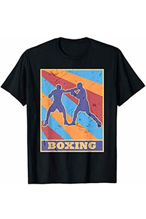 Family Men Women Kids Boxing Team Gifts Idea Boxing Vintage Retro Colors Knuckle Fighter Workout Boxer T-Shirt