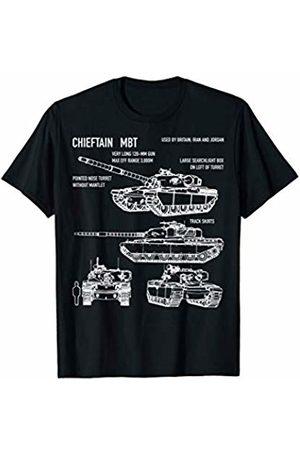 Battlefield Army Tanks by Maljonic Chieftain British Army Tank FV4201 Blueprint T-Shirt Gift