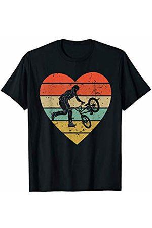 Family Men Women Kids BMX Team Gifts Idea BMX Vintage Design Retro Bike Bicycle Rider Heart Sport Fan T-Shirt