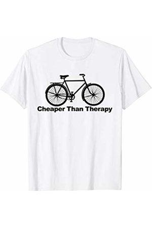 Miftees Cycling Cheaper than Therapy Biking cheaper than therapy T-Shirt