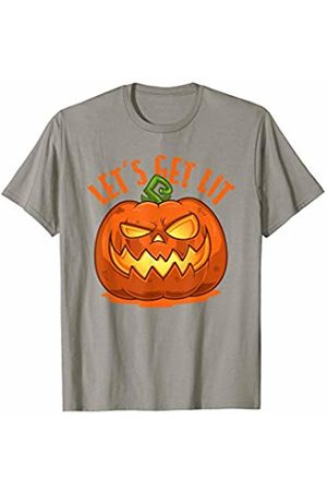 Creepin It Real Halloween Outfits Co. Creepy Halloween Pumpkin Jack O Lantern Let's Get Lit Gift T-Shirt