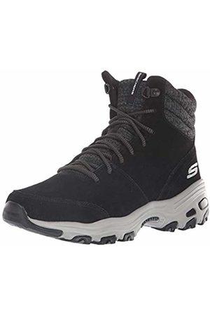 Skechers Women's D'Lites-CHILL Flurry Ankle Boots, ( Suede/Knit Blk)