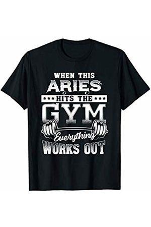 Zodiac Made Better Funny Aries Gym Workout Design T-Shirt