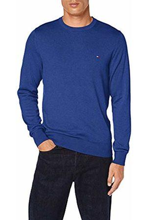 Tommy Hilfiger Men's Organic Cotton Silk Crew Neck Sweatshirt, ( Quartz Heather 049)