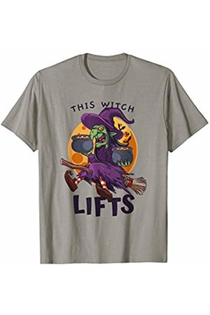 Creepin It Real Halloween Outfits Co. This Witch Lifts Halloween Weightlifting Fitness Workout T-Shirt