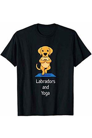 Funny Yoga Pose Designs Co Yoga Labrador Retriever Dog T-Shirt I Yoga Tree Gift