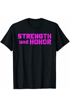 Elite Workout Fitness Collections Cool Strength And Honor Fitness Pink Design For Competitors T-Shirt