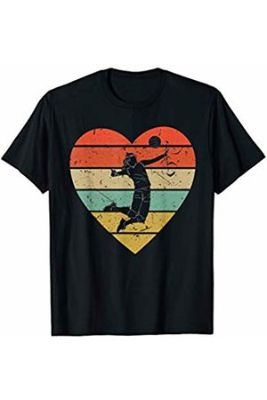 Family Men Women Kids Volleyball Team Gifts Idea Volleyball Vintage Design Retro Mine Player Heart Sport Fan T-Shirt